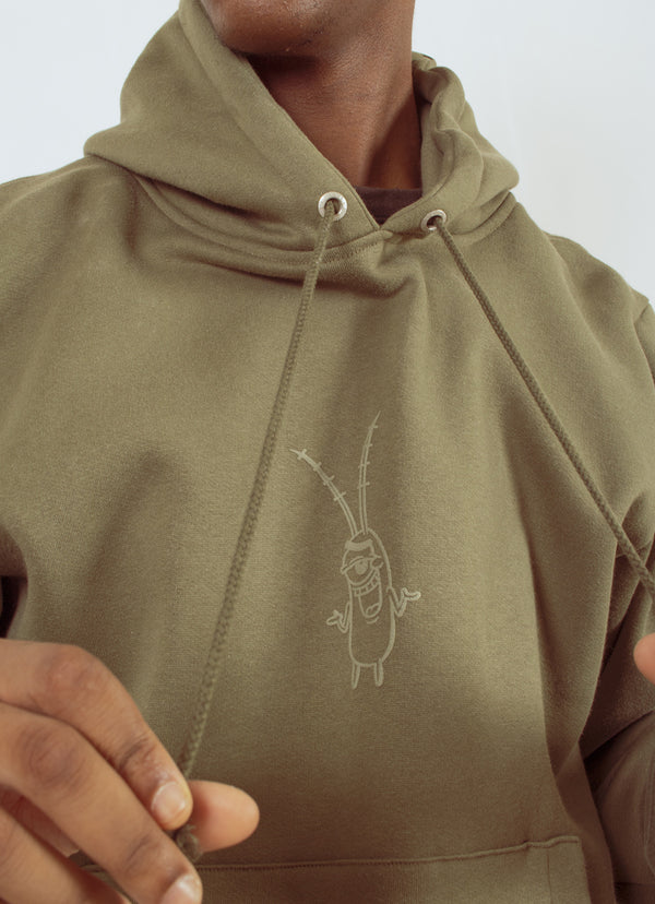 W.ESSENTIÉLS x NEVER TOO OLD | Spongebob - Plankton Hoodie Military Green
