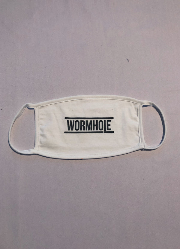 WORMHOLE Logo Mask White