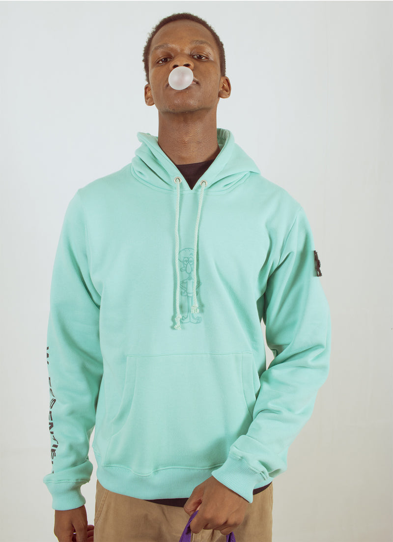 W.ESSENTIÉLS x NEVER TOO OLD | Spongebob - Squidward Hoodie Tiffany
