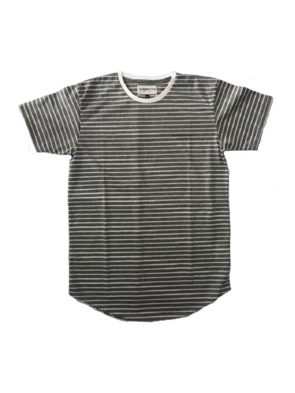 Chest Logo Pinstripe Light Grey/White