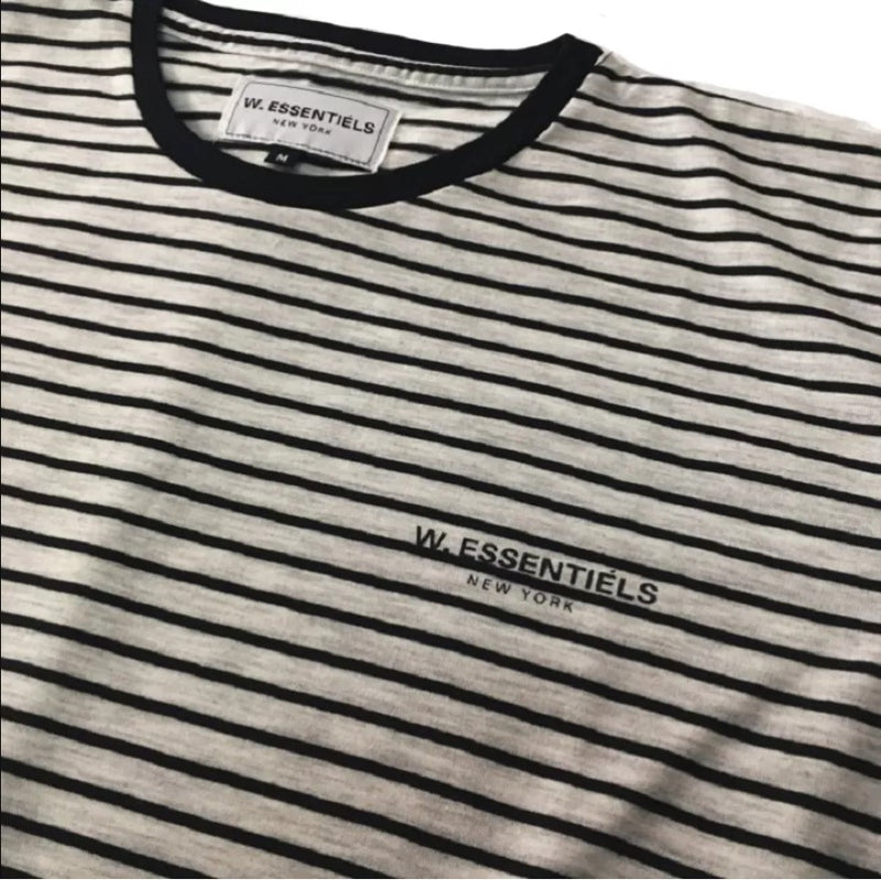 Chest Logo Pinstripe Light Grey/Black