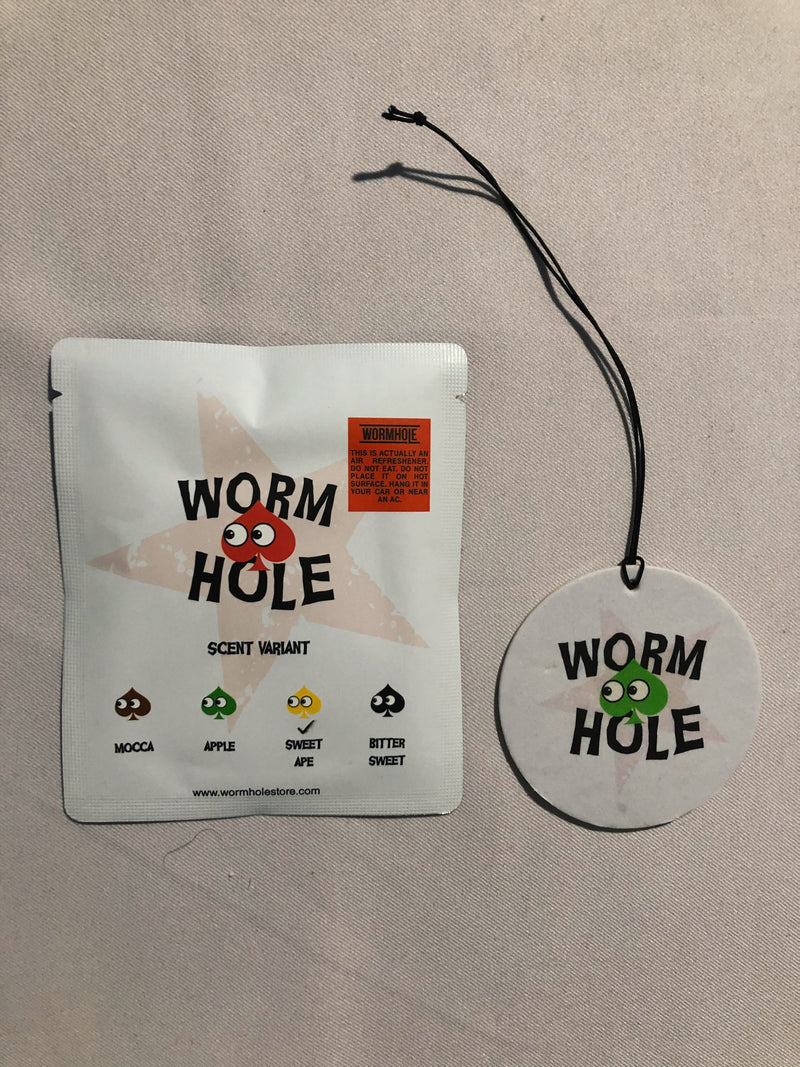 Wormhole Natural 21 Fragrance Car + Room Tag Sweet Ape