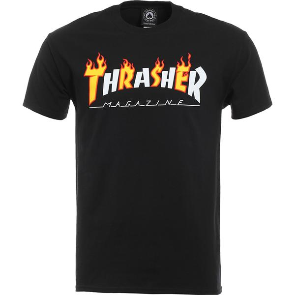 Thrasher Flame Mag Tee Black