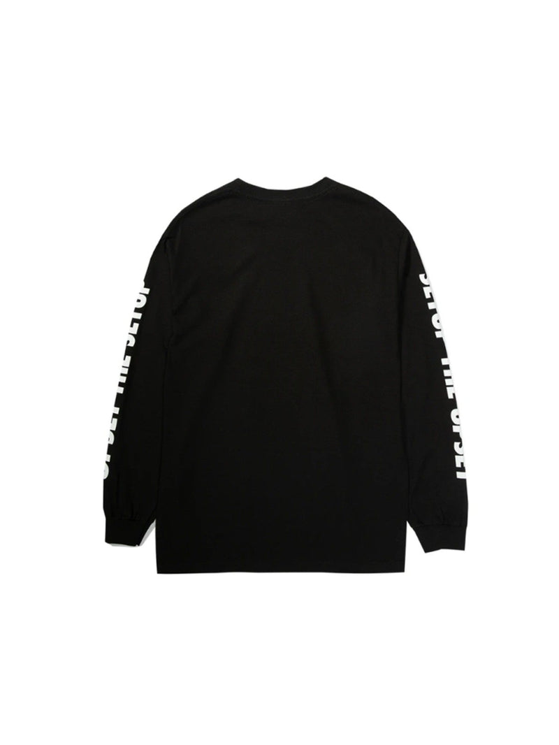 Upset Magazine L/S T-Shirt Black