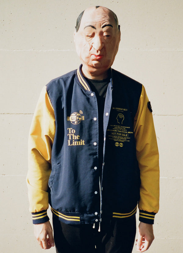 Brandon Salim X W.Essentiels Volume 02 Les Giallo Varsity Jacket Navy/Yellow