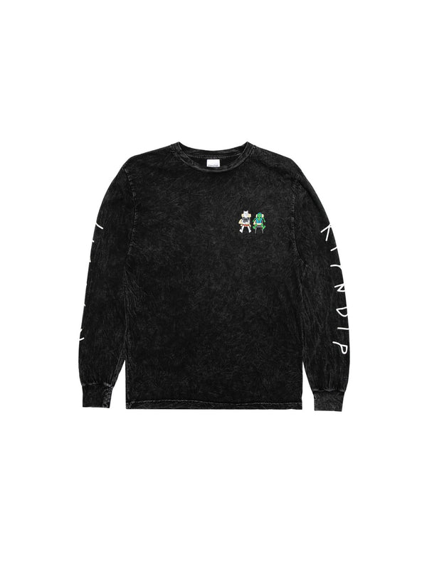 Butz Up L/S Black Mineral Wash