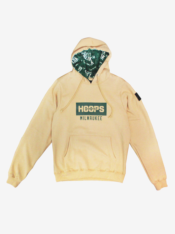 W.ESSENTIELS x HOOPS Ecume Oversize Hoodie City of Milwaukee