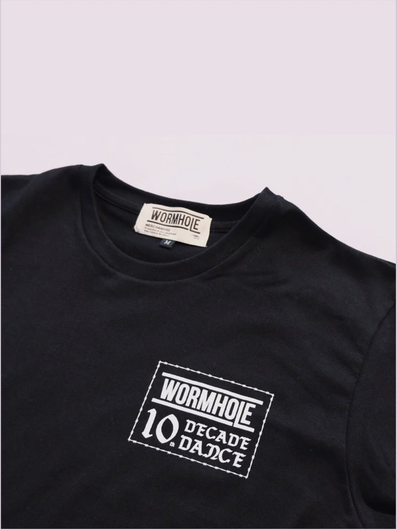 Wormhole A decade of Wormhole Black Tee (10th Anniversary Special)