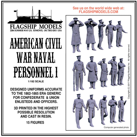 AMERICAN CIVIL WAR NAVAL PERSONNEL 1 (1/192 scale)
