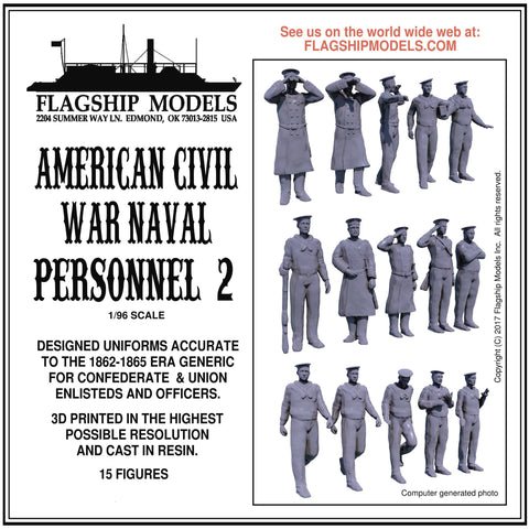 AMERICAN CIVIL WAR NAVAL CREWMEN 2 (1/96 scale)