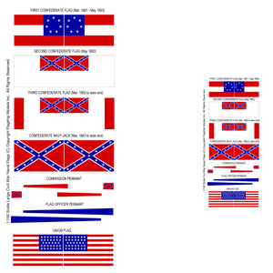 LARGE CONFEDERATE & UNION FLAGS (14'x 9')