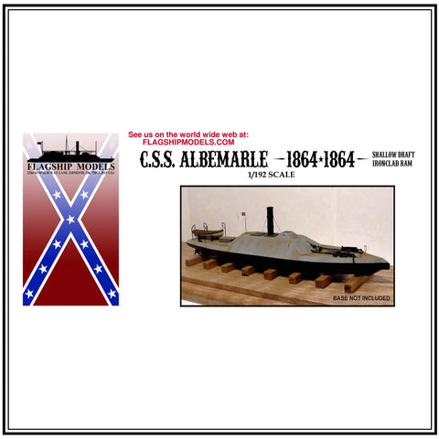 "CSS ALBEMARLE shallow draft ironclad (12"" long, detail set incl.)"