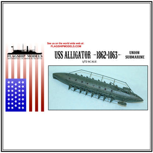 "USS ALLIGATOR Union submarine (7"" long, detail set incl.)"