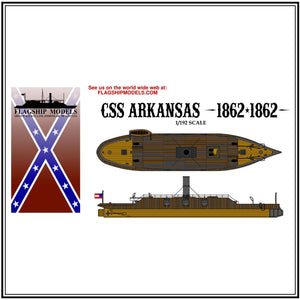 "CSS ARKANSAS ironclad ram (10.5"" long, detail set incl.)"