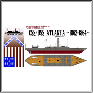 "CSS/USS ATLANTA (13"" long, detail set incl.)"