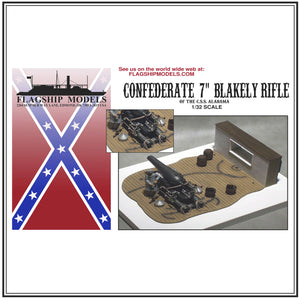 "CONFEDERATE 7"" BLAKELY RIFLE (Base 9""x 6.75"")"