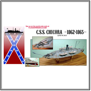 "CSS CHICORA / SAVANNAH ironclad ram (10"" long, detail set incl.)"
