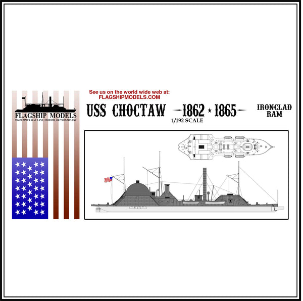 "USS CHOCTAW IRONCLAD RAM (15.5"" long, detail set incl.)"