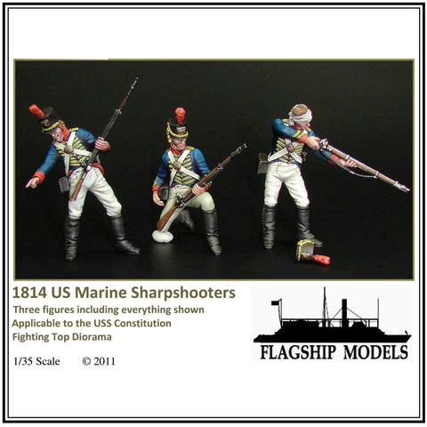US MARINE SHARP SHOOTERS 3 figs 1/35 scale (1814)