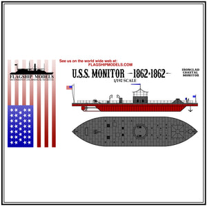 "USS MONITOR (10.5"" long, detail set incl.)"