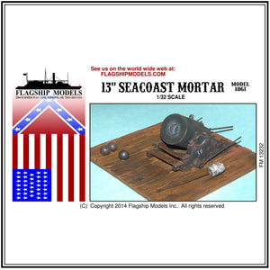 "13"" SEACOAST ""DICTATOR"" MORTAR (Base 5""x 5"")"