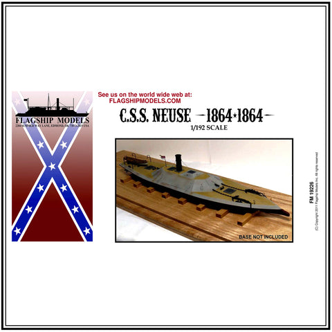 "CSS NEUSE shallow draft ironclad ram (12"" long, detail set incl.)"