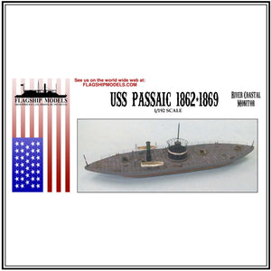 "USS PASSAIC (Monitor class 12.5"" long, detail set incl.)"