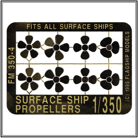 1/350 scale SURFACE SHIP PROPELLERS
