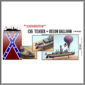 "CSS TEASER armed tug & RECON BALLOON (5.5"" long, detail set incl.)"