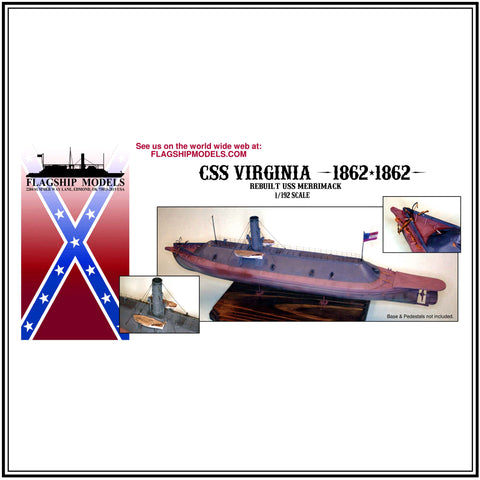 "CSS VIRGINIA (ex USS Merrimack 18"" long, detail set incl.)"