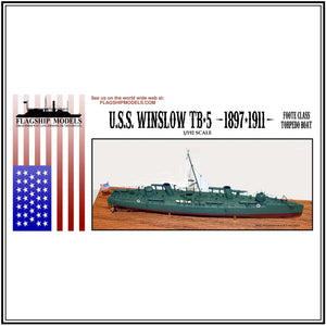 "1890s Torpedo Boat USS WINSLOW (10"" long, detail set incl.)"