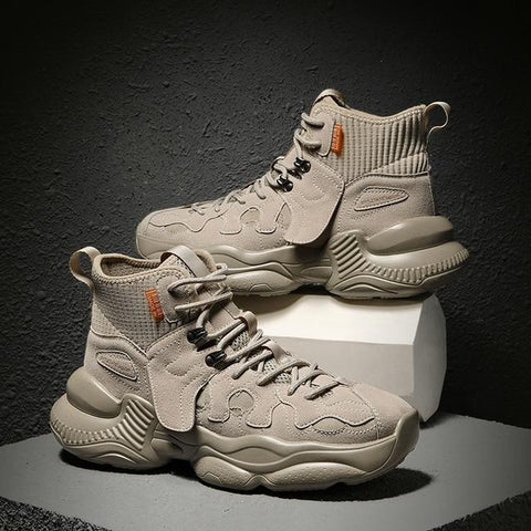 Chunky High-Cut Sneakers - Hellopenguins
