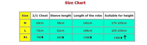 3 Main Sizes For the Star Wars Robe