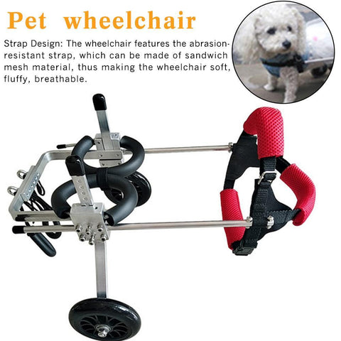 Detailed Parts Of Pet Wheelchair