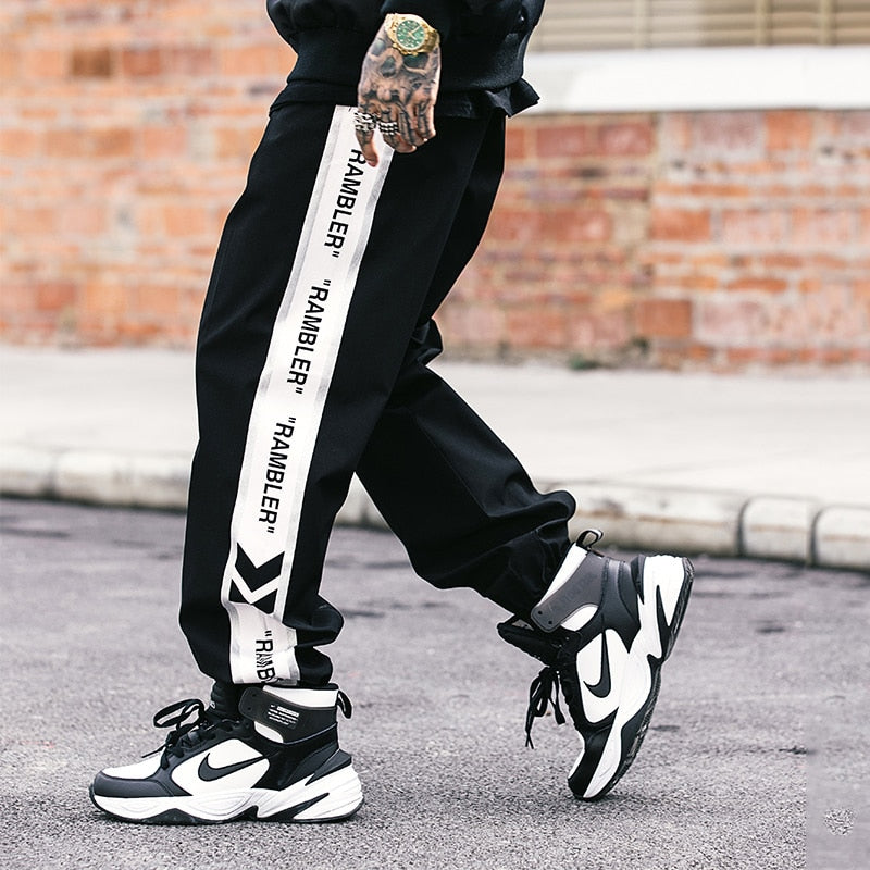 Streetwear Stitching Joggers - Hellopenguins