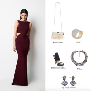 #HowToWear: The Burgundy Power Cut-Out Gown