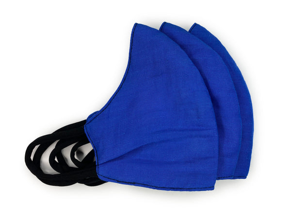 Royal Blue Masks - 3 Pack