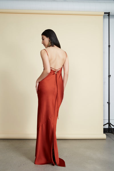 Jude Gown Burnt Orange