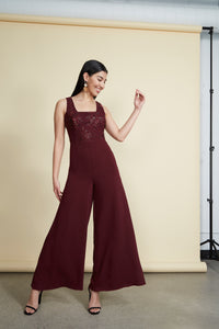 Pia Jumpsuit Burgundy