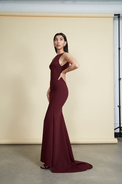 Janet Gown Burgundy
