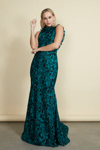 Ivy Gown Green/Black