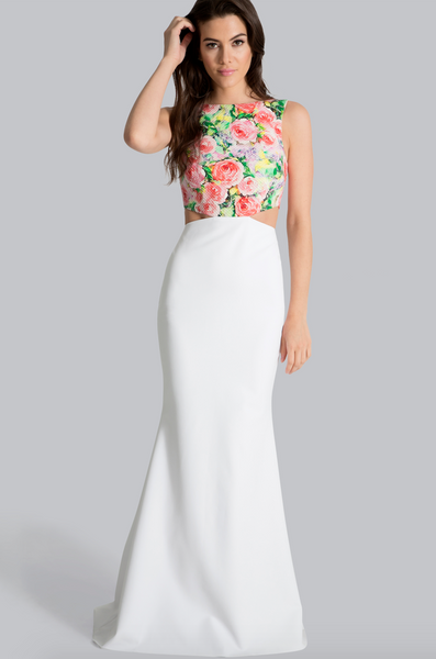 Floral Power Cut-Out Gown