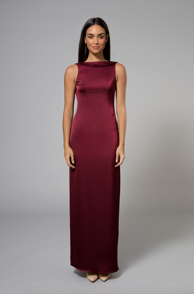 Angie Gown Burgundy