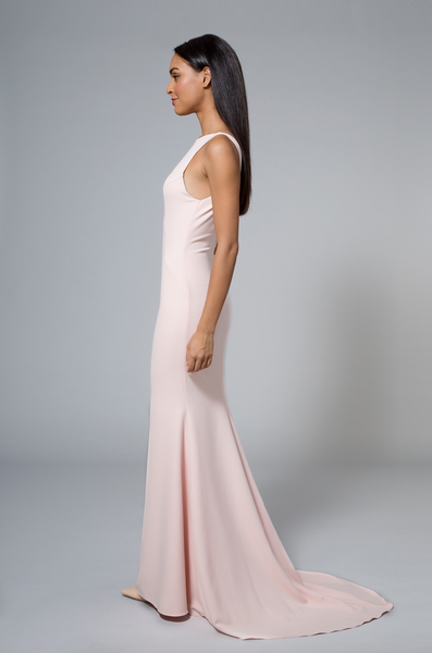 Katie Gown Blush Pink