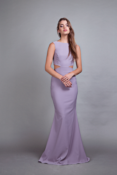 Power Cut-Out Gown Lilac