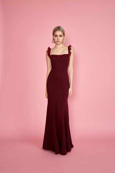Sasha Gown Burgundy