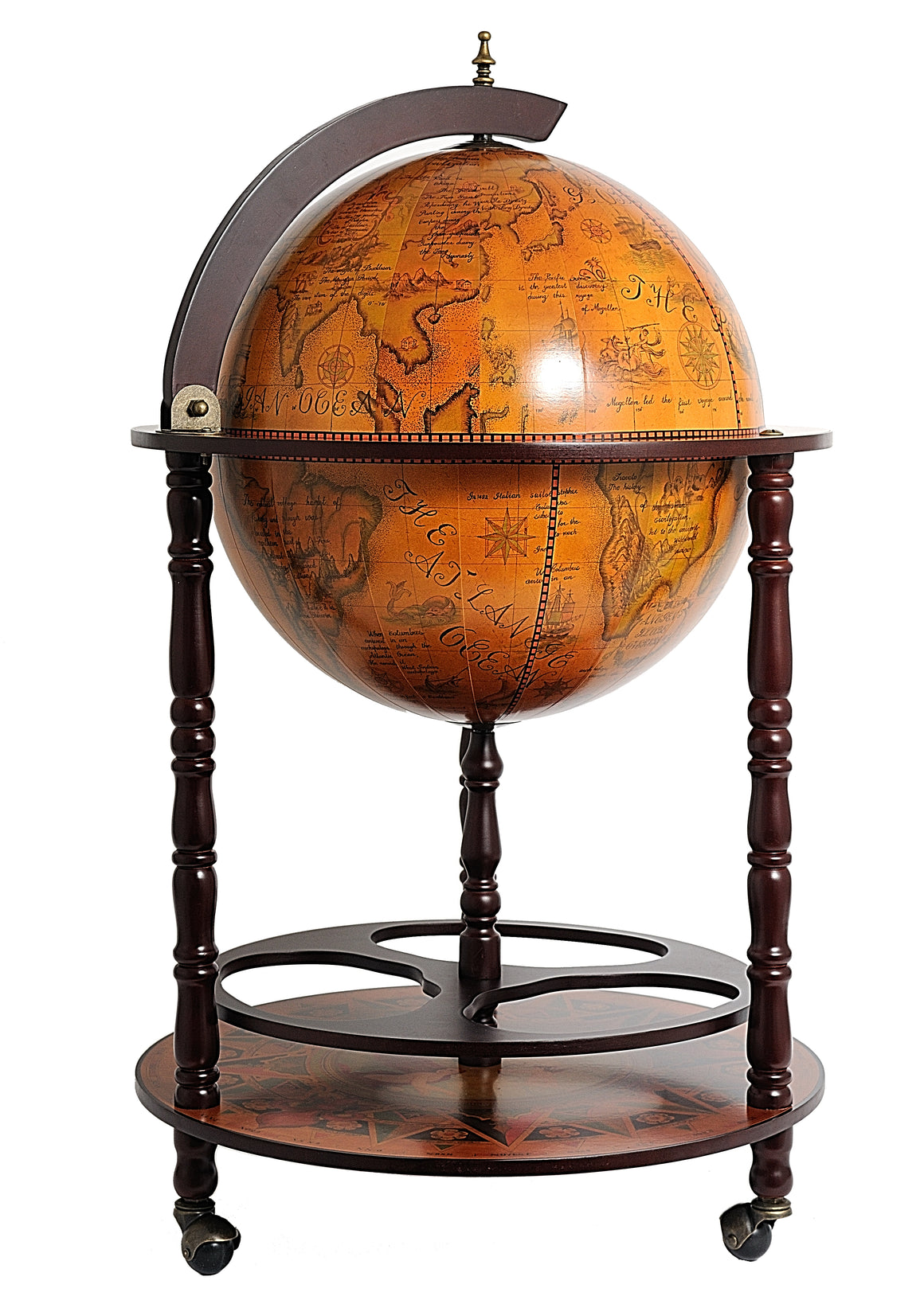 Old Modern Handicrafts 17 3/4 inch World Globe Cabinet - Decor and Gifts Galore