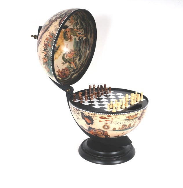 Old Modern Handicrafts World Globe White Chess Holder - Decor and Gifts Galore