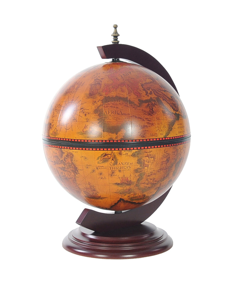 Old Modern Handicrafts 13 inch World Globe Red Chess Holder - Decor and Gifts Galore