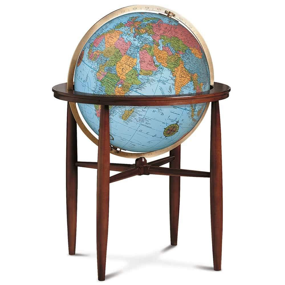 Finley Globe 20-inch Blue Illuminated - Decor and Gifts Galore